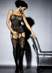 OB- Body Stocking F204 Schwarz S/M/L